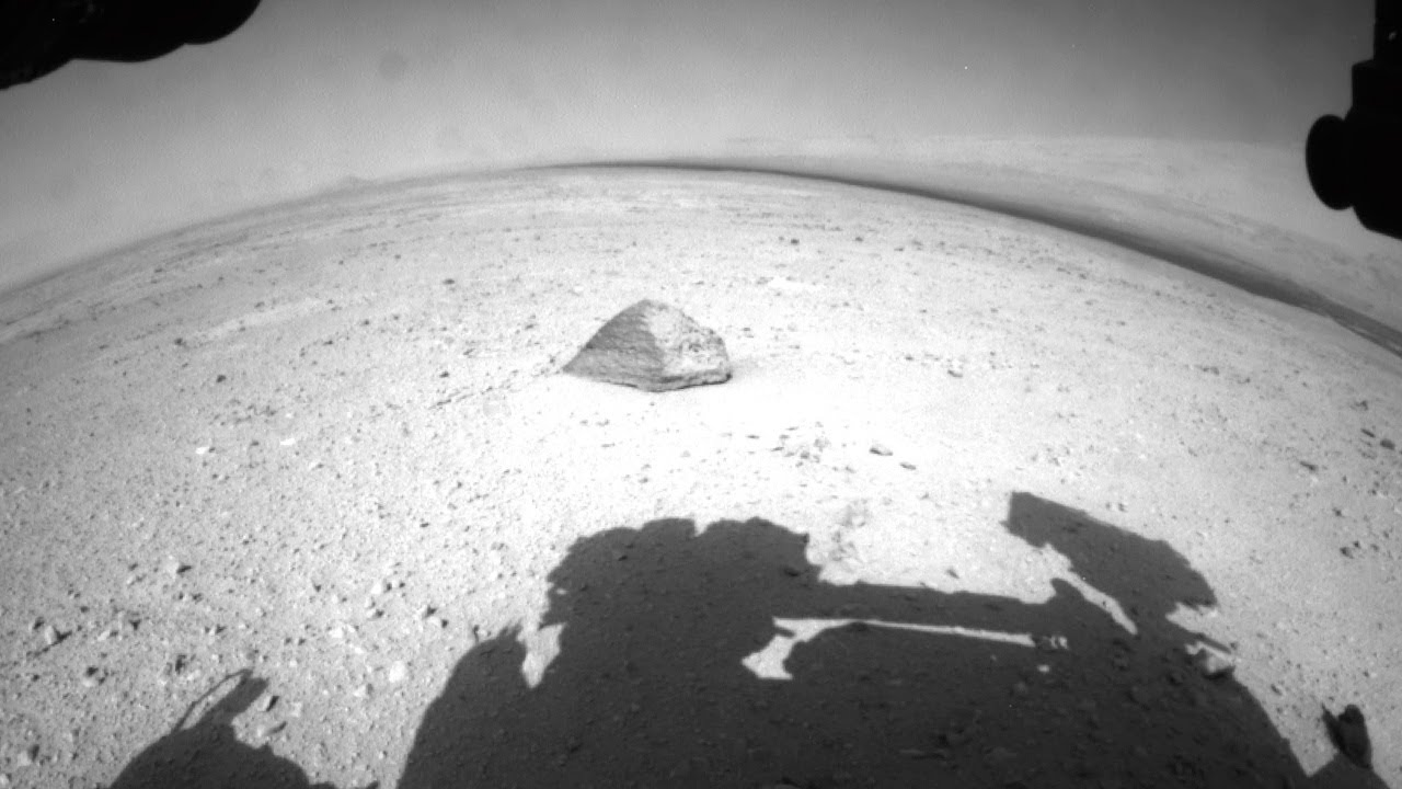 Curiosity: Pyramid Shaped Rock and Martian Moon Phobos ...
