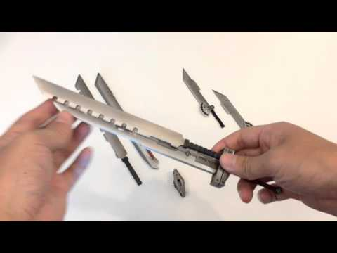 Fusion Swords With Magnets For Play Arts Kai Cloud