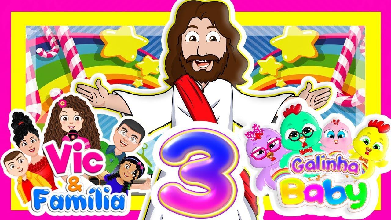 DVD 3 NOVO - Galinha Baby com Vic e Família - DVD Infantil Gospel Educativo Vol.3