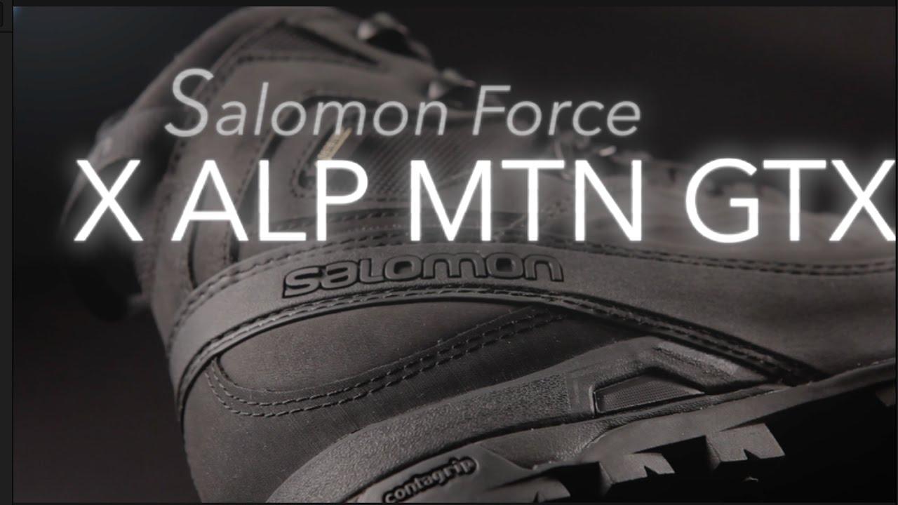 Salomon X Alp MTN GTX Forces Stiefel Black Schwarz 1000116