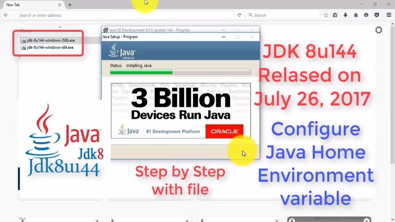 Java JDK 8u144 2017 Install With Setup WINDOWS 10 free ...
