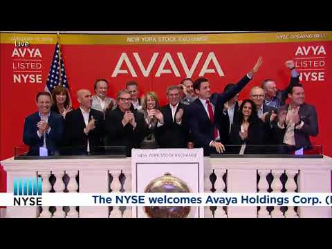 Avaya is Officially on the New York Stock Exchange