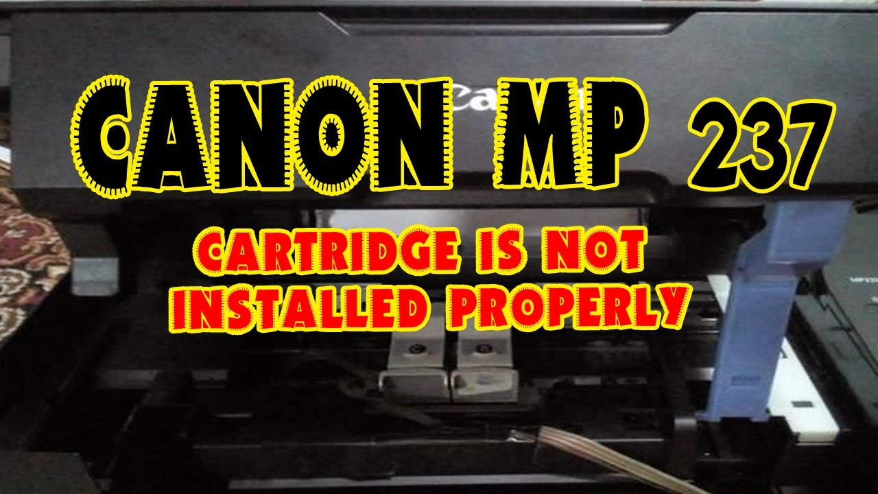 Mengatasi Printer Mp 237 Eror 1401 Cartridge Is Not Installed