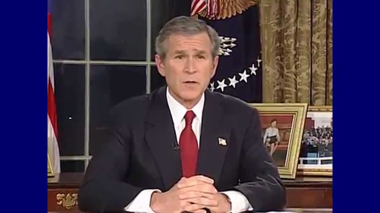 Bush Iraq Policy Summarized By Donald >> President George W Bush Invasion Of Iraq Address Youtube