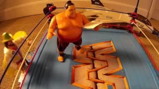 WWF WWE Hasbro July 4th 1993 Yokozuna Body Slam Challenge USS Intrepid