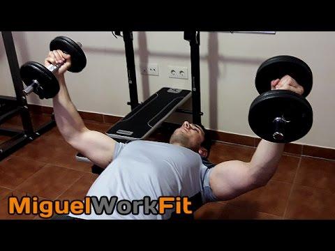 Rutina pecho biceps en casa