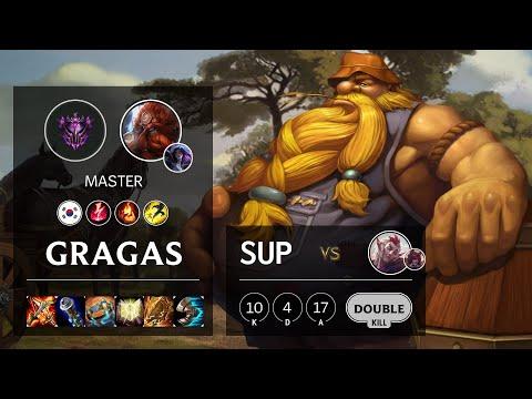 Gragas Support vs Rakan - KR Master Patch 10.16