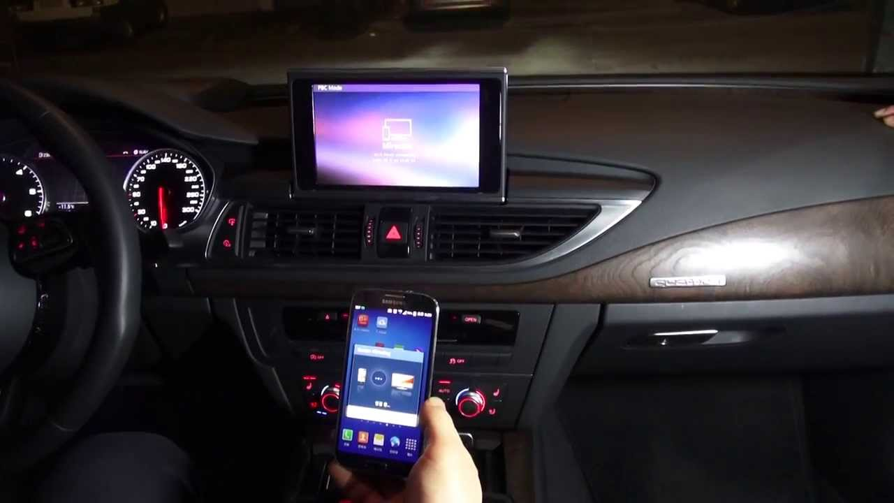 audi a7 wireless smartphone mirroring android youtube. Black Bedroom Furniture Sets. Home Design Ideas