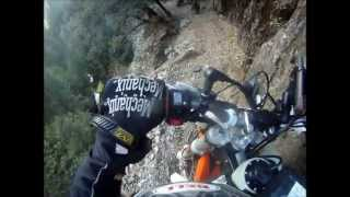 2013 KTM 350 EXC-F on World Class Singletrack, Downieville, CA.