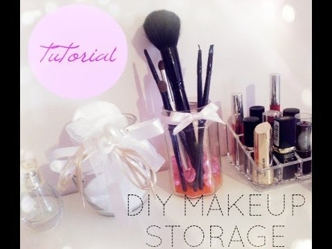 Tutorial diy make up storage porta pennelli e porta for Porta cellulare fai da te jeans