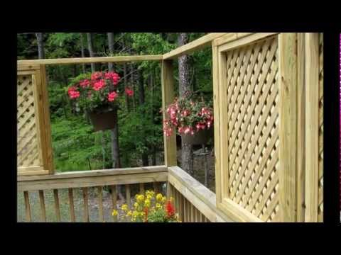 adding lattice windows to a deck youtube