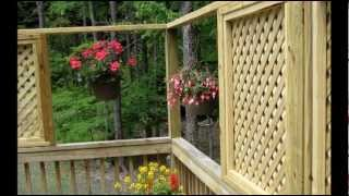 How To Add Lattice Windows To A Deck
