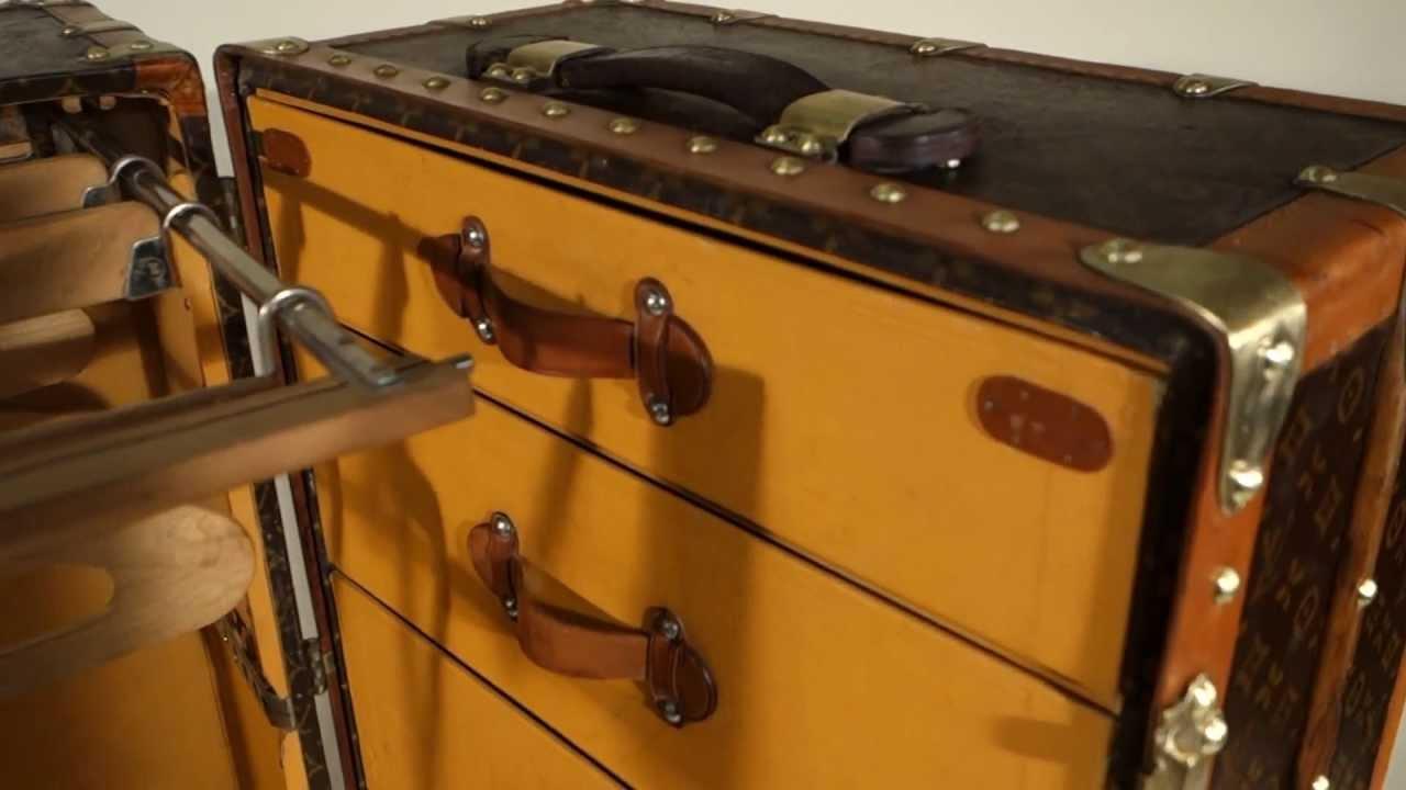 malle louis vuitton wardrobe malle armoire louis vuitton wardrobe trunk youtube - Wardrobe Trunk
