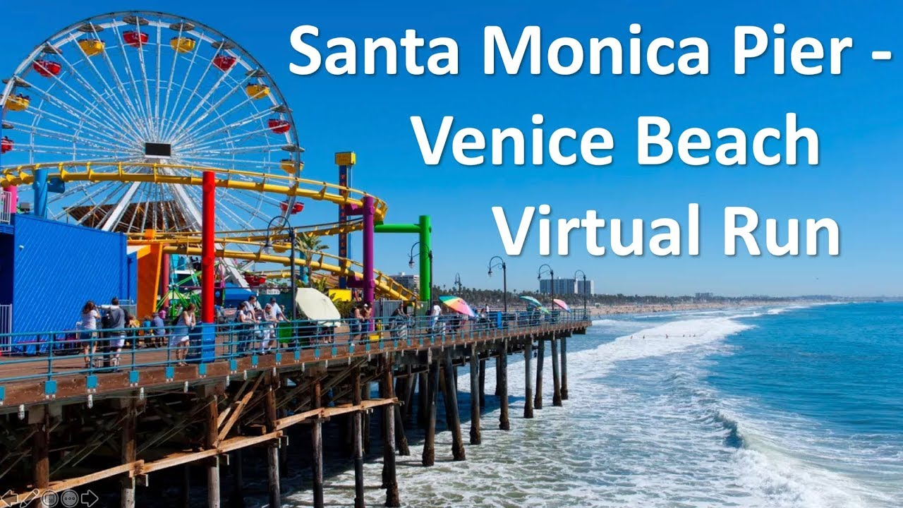 Santa Monica Pier Venice Beach Boardwalk Virtual Run