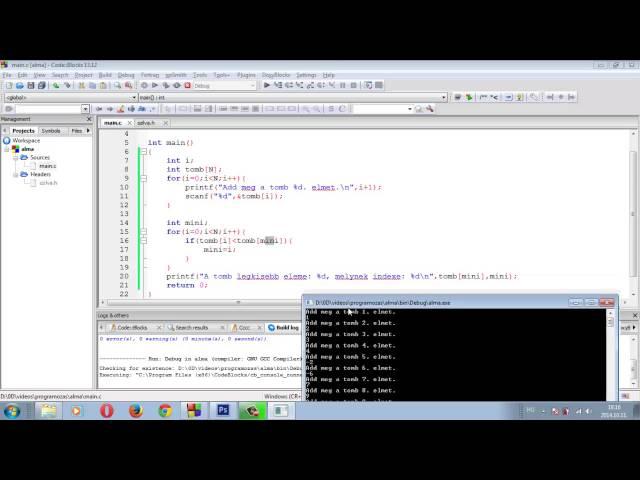 Programozási Tételek - Minimumindex Maximumindex
