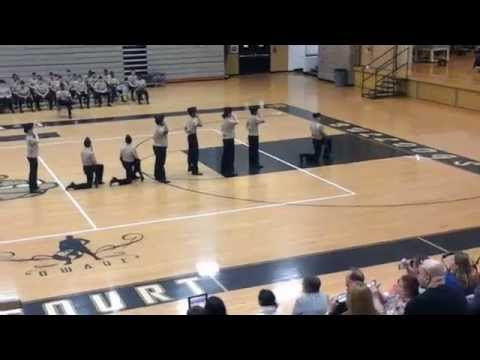 Harold L. Richards NJROTC Joint Exhibition Drill team Chain of Command 2015