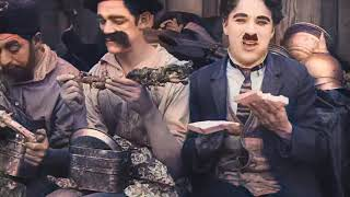 Charlie Chaplin - Behind the Screen (1916) - color (Laurel & Hardy)