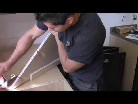 Tutorial de Como unir e instalar una barra o encimera hecha de material laminado