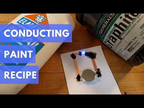 DIY Conductive Paint Recipe for paper circuits   Cheap, easy, and non-toxic!