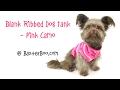 Blank Ribbed Dog Tank - Pink Camo