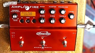 Atomic Amplifire Guitar FX Pedal - Plugged In To a Clean/Dry Amp - Amazing Results!