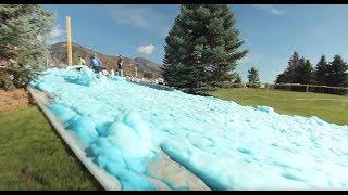 True Blue-Foam Slip N' Slide!
