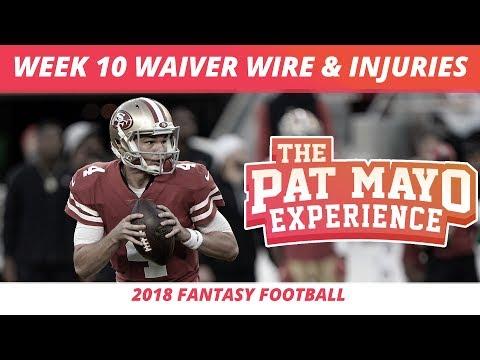 2018 Fantasy Football — Week 10 Waiver Wire Rankings, Injuries, Recap + More