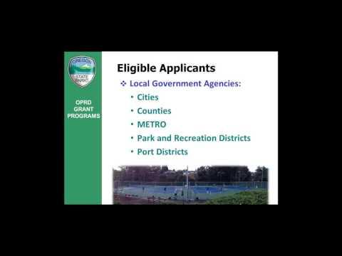 2016 Local Government Grant Program Workshop Webinar