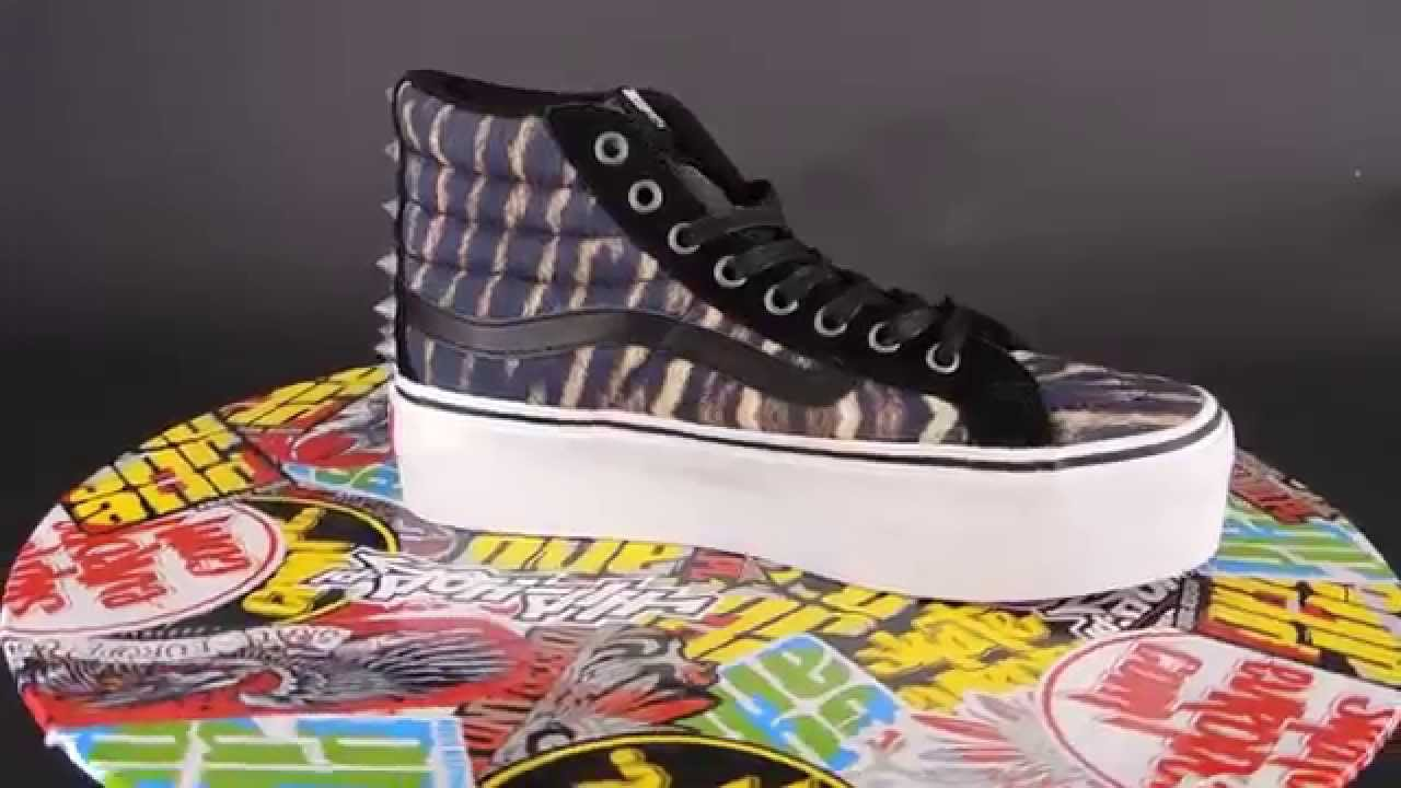 7c339eed42 VANS Sk8-HI Platform  (STUDDED) TIGER  TRUE WHITE  - YouTube