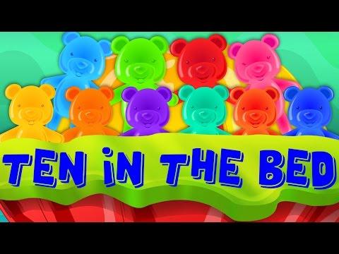 Jelly Bears | mười chương trình trong giường ươm vần điệu cho trẻ em | trẻ em bài hát