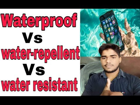 ebe2b93f7 Hindi) Waterproof vs water resistant vs water repellent. What's the ...
