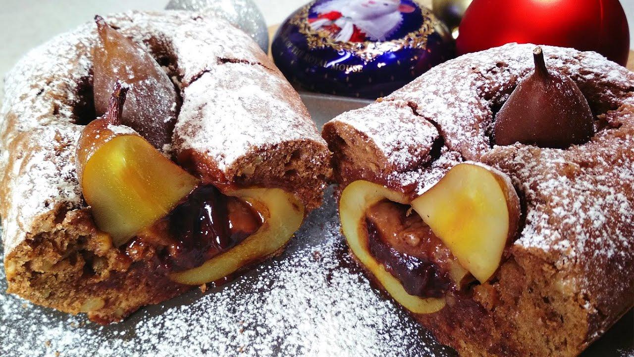 Вот это десерт! И НИКАКОГО ТОРТА НЕ НУЖНО! Новогодний Рождественский Кекс с шоколадными грушами