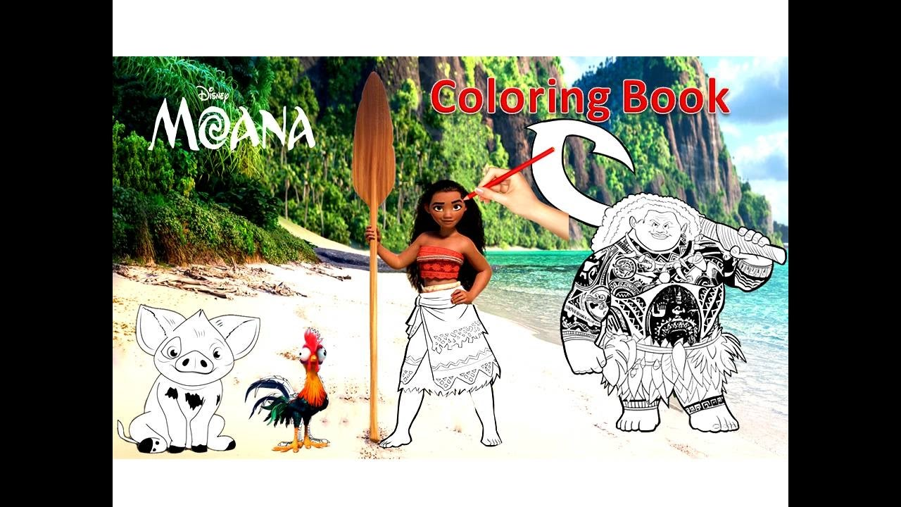 Disney Princess of Pacific MOANA Coloring Book Kids Coloring Pages ...