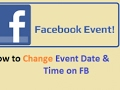 How to Change Facebook Event Date and Time