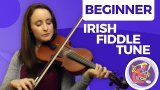 Irish Fiddle Lesson - [The Basics] Easy Session Tune 🎵🎵 Maggie In The Woods