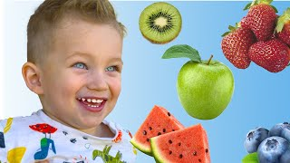 Learn Colors with Fruits Song   Kids Songs and MarkLand present.