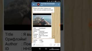 Скачать видео с YouTube с помощью бота в telegram