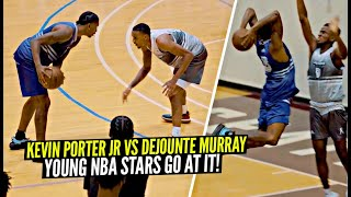 Kevin Porter Jr vs Dejounte Murray GO AT IT at The Crawsover & It Was LIVE!!