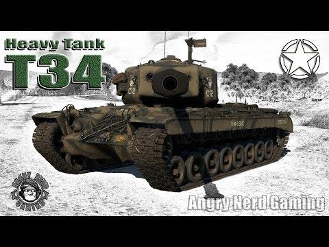 War Thunder: Heavy Tank T34, American, Tier-4, Heavy Tank