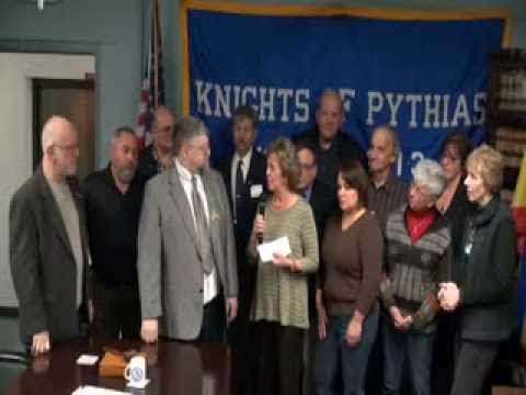 Knights of Pythias Donation to Stoughton Food Pantries