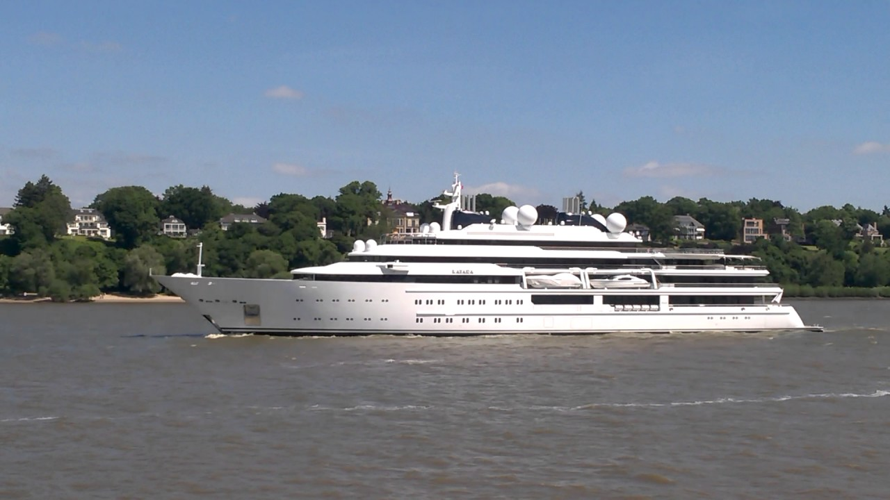 Superyacht Katara In Hamburg