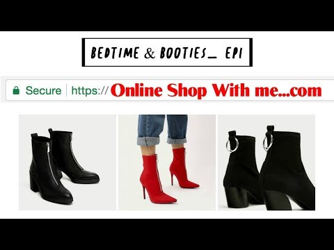 Online Shop With me! Fall booties.