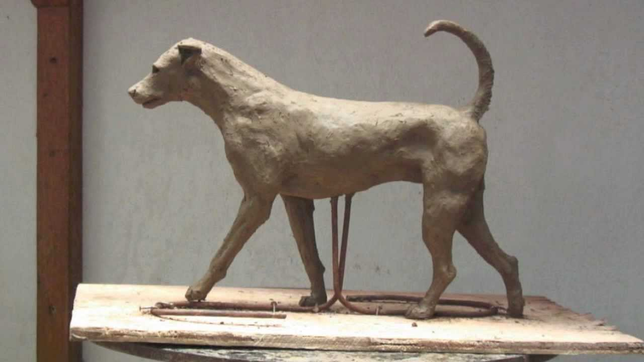 Clay Sculpture Of A Dog Step By Step In Photos By K