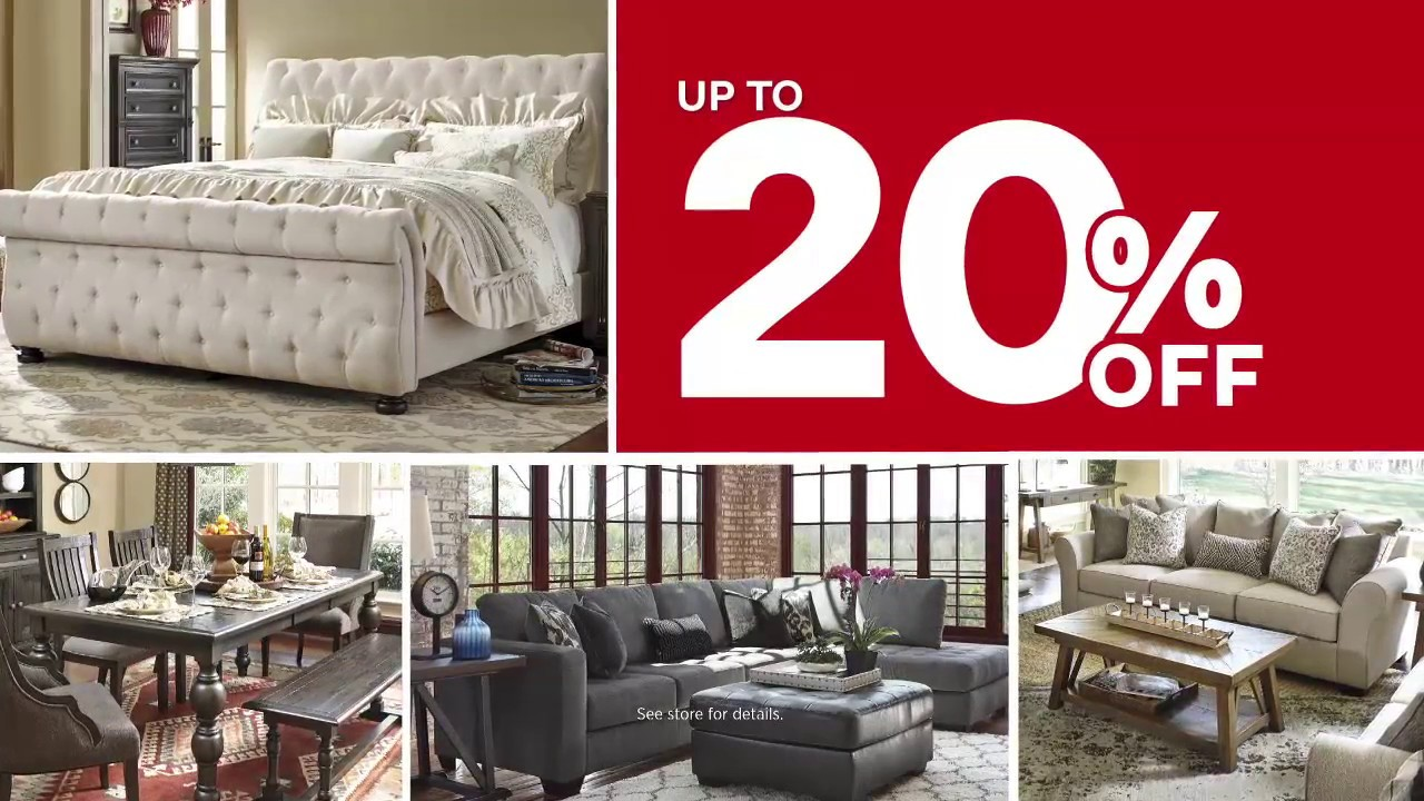 ashley furniture homestore presidents day sale extended springfield mo youtube. Black Bedroom Furniture Sets. Home Design Ideas