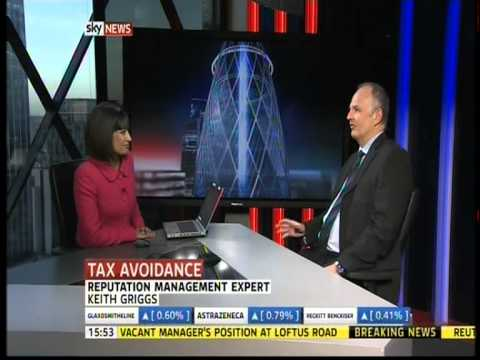 Keith Griggs on Sky News talking about Starbucks and Amazon