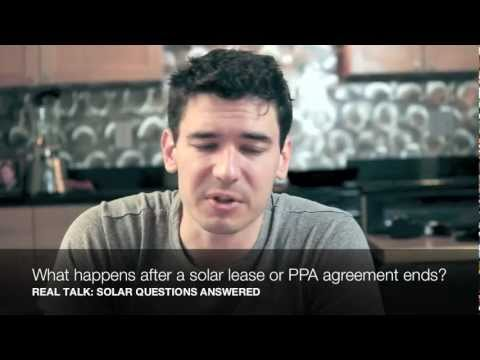What happens after a solar lease or PPA agreement ends?
