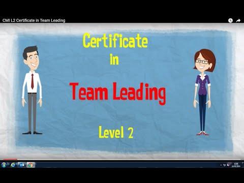 CMI L2 Certificate in Team Leading