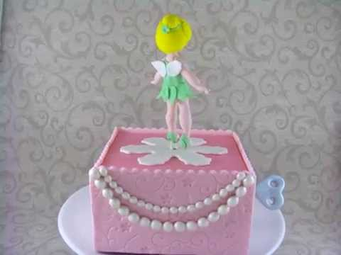 Baby Tinkerbell Music Box Cake YouTube