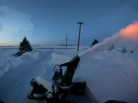 Frontier SB 1174 Blowing Compacted Drifts