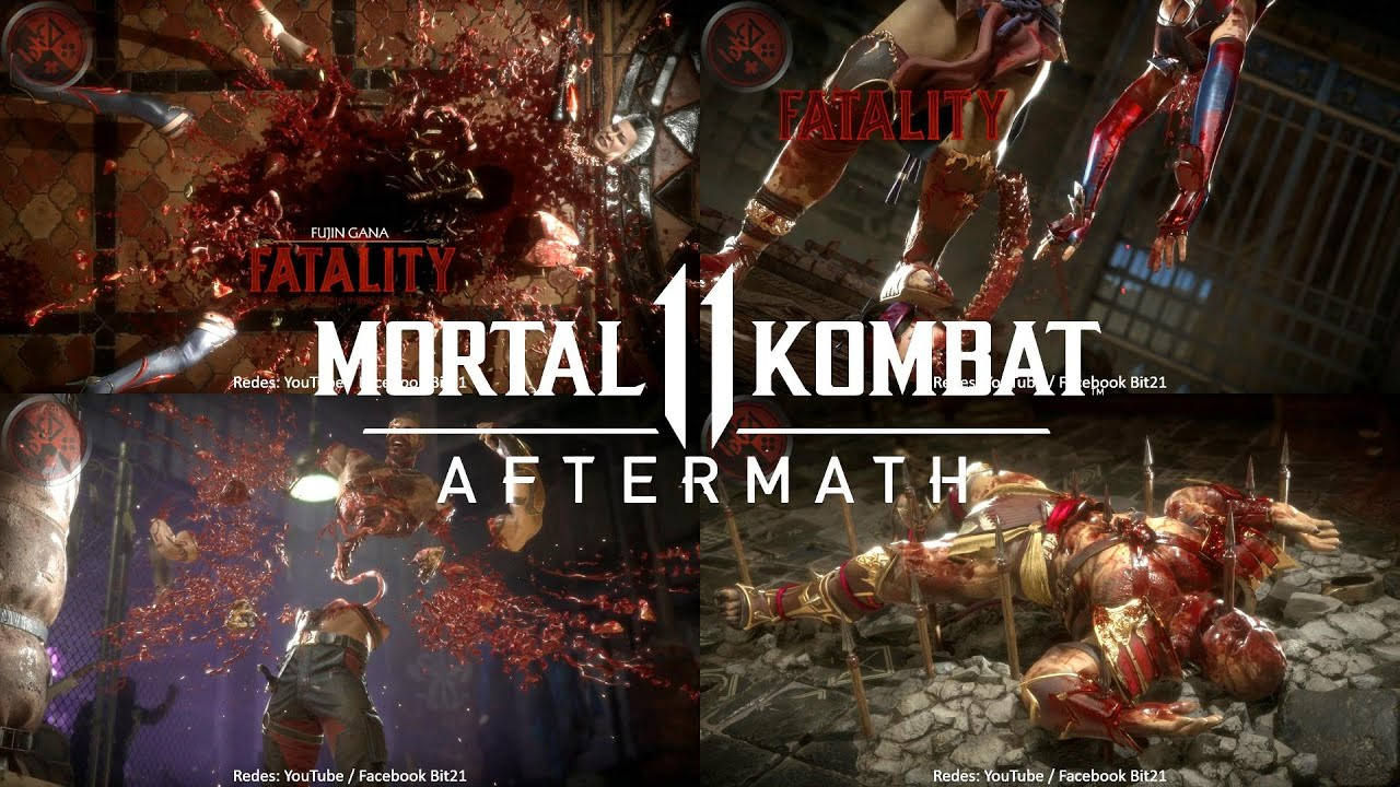 MK11 Aftermath: TODOS los FATALITIES (71) Sin Censura / Escenario / Mortal Kombat 11